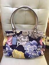 Coach Madison Floral Kara Carryall Purse Bag F23348 Navy/Multi