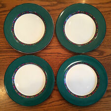 Set 4 Dansk Quiltings Dinnerware EMERALD BRAID Salad Plates green quilt & Dansk Stoneware Dinnerware \u0026 Serving Dishes | eBay