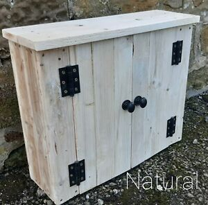 Bathroom Cabinet, Wall Mounted made from reclaimed pallet wood