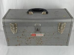 Craftsman Toolbox Vintage Antique Rare Tool Box Sears With Red Tray