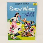 Vintage Color By Number Snow White and the Seven Dwarfs Coloring Book