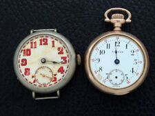 Two men's Antique/Vintage/Old/Estate Wrist Watches for parts or repair