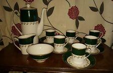 Spode Green Velvet 15 Peace Coffee Set (pt32)