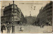 CPA POSTCARD PARIS GARE DU NORD BD DENAIN   225Aa165