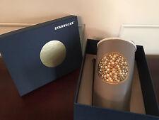 Starbucks 2015 Anniversary Dot Swarovski Crystal Ceramic Coffee Travel Mug BNIB