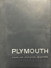 1957 Plymouth Color and Upholstery Dealer Album Belvedere Savoy Plaza Suburbans