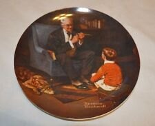 1982 The Tycoon Norman Rockwell Bradford Exchange Collector Plate (8,Pl 2)