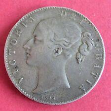 1844 QUEEN VICTORIA SILVER CROWN - CINQUEFOIL STOP