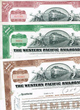 Set 3 Western Pacific Railroad Co., 1950s, VF