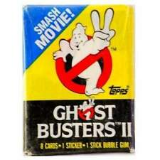 1989 Ghostbusters 2 Wax Pack unopened Cards sticker Topps Bill Murray Rare (#51)