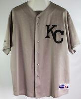 MLB Vintage Kansas City Royals Gray Jersey Size XXL Majestic Rare