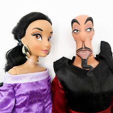 "Disney Store Jasmin & Villian Jafar 12"" Classic Doll Set Couple"