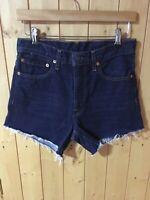 LEVI'S Ladies Jeans Short Size 28 Blue
