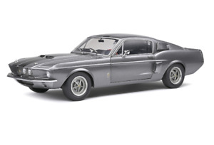 SOLIDO DIECAST 1/18 1967 FORD MUSTANG SHELBY GT500 GREY/BLACK STRIPES S1802905