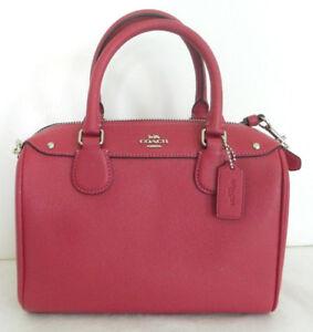 Coach F57521 mini Bennett Hot Pink Leather Satchel Crossbody NWT $295 Retail FS