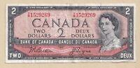 1954 $2 Bank of Canada Note Beattie Coyne T/B 1529269 - VF