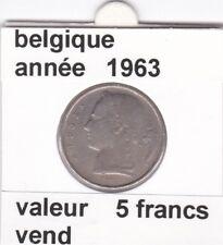 FB )pieces de baudouin  5 francs 1963  belgique