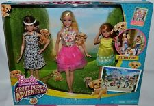NIB-RARE--GREAT PUPPY ADVENTURE BARBIE, SKIPPER & STACIE SET OF 3! CUTE FASHIONS