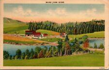 Postcard Maine Farm Scene