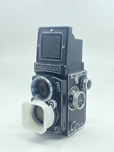 RolleiFlex 2.8C Planar 2.8/80MM TLR 6x6 Camera USA. Film tested.