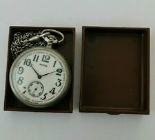 ☭ Pocket Watch Molnija TRAIN 3602 SU Mechanical USSR Vintage Soviet SERVICED