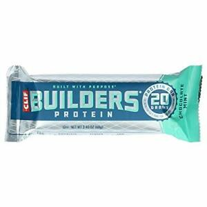 CLIF BUILDERS Protein Bars Chocolate Mint 20g Protein Gluten Free (12 Count)