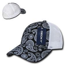 21bd1229edd Black Paisley Bandana Bill Mesh TRUCKER Snapback Baseball Ball Cap Hat