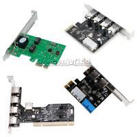 PCI/PCI-E 2/3.0 2/4/5 Ports Express 4Pin&20Pin USB Panel Controller Card Adapter