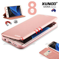 Genuine XUNDD SAINA Leather Wallet Card Holder iPhone 8 Case Cover for iPhone X