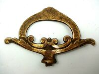 "Architectural Antique Decorative Solid Brass  Old  3"" long  2"" Tall"