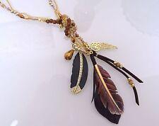 Modeschmuck-Halsketten aus Kunststoff und Metall-Legierung für Damen