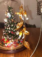 Pair! Gold Strappy High Heels Shoes Glass Christmas Tree Ornaments-W/ Box!