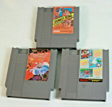 NES 3 Game Lot Super Mario Bros/Track Meet/DuckHunt Donkey Kong Classics & Joust