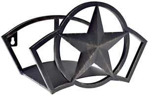 Bronze Wall Mount Metal Star Garden Water Hose Storage Organizer Holder Hanger