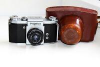 OLD RARE 1940 KW Praktica FX VINTAGE SLR film camera w/s lens Industar-50 EXC