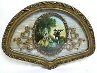 "Romm Ornate Florentine Baroque Wall Plaque Gold Framed 27"" French Regale Rare"
