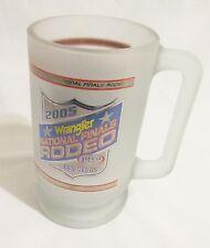 2005 PRCA Wrangler National Finals Rodeo Las Vegas Frosted Mug/Stein Cowboy USA