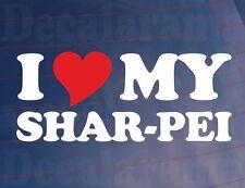 I LOVE/HEART MY SHAR-PEI Novelty Dog Owners Car/Van/Window/Bumper Sticker /Decal
