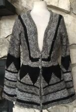 FREE PEOPLE Women's Wool Blend Long Bell Sleeve V-Neck Cardigan Sweater Sz S