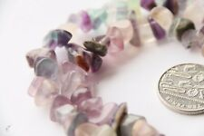 "Natural Gemstone 5-10mm Chip Beads Crystal Fluorite 33"" strand"