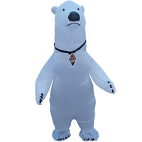 Inflatable Polar Bear Costume for Adults Halloween Cosplay Party Fancy Dress Men