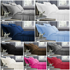 100% Poly Cotton 40CM Extra Deep Fitted Sheet Bed Sheets Single Double King Size