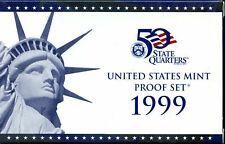 1999-S US Proof Mint Set 9 Coins CLAD 20htl0912