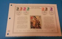 FRANCE DOCUMENT ARTISTIQUE YVERT 2178/84 LIBERTE DELACROIX PARIS 1982  L647