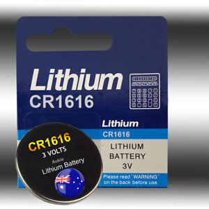 2 X CR1616 Blister Battery Lithium Cell/Button Batteries Sydney Local Fast Post