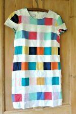 Anthropologie Corey Lynn Calter Clare Linen Shift Dress Sz Medium Multi Check