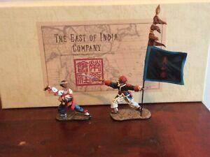 East of India. Boxer banner-man & swordsman  Boxer Rebellion set CCC406