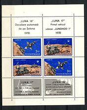 Romania 1971 SG#3794-5 Luna 16, 17 Space MNH Sheet #A59867