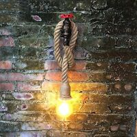 Wall Lamp Vintage Industrial Piping Rope Cannamo Retro Decoration NEW
