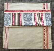 More details for vintage german mangle cloth / french ticking cushion pillow cover 3